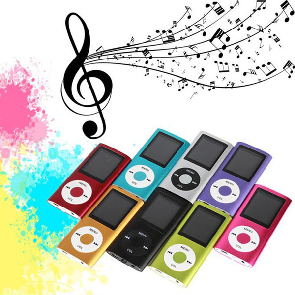 Wholesale 2017 New Best Price Mini 4th 1.8 Screen MP4 Video Radio Music  Movie Player With Micro TF/SD Card Slot Electronic Play Mp3 Mp3 Music  Player.