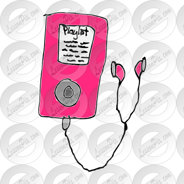 MP3 Player Picture for Classroom / Therapy Use.