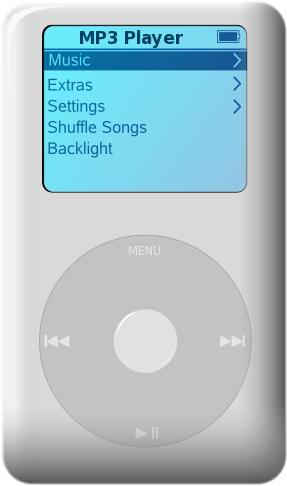 portable MP3 player.