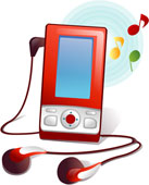 Clipart mp3 player.
