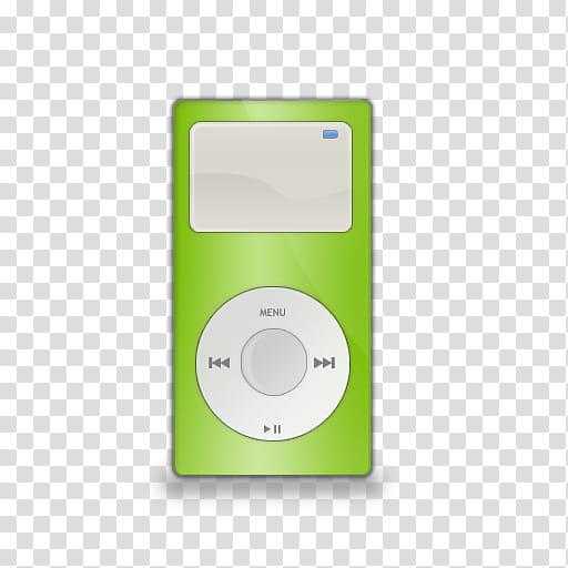 TRIX Icon Set, iPod mini_green, green MP player illustration.