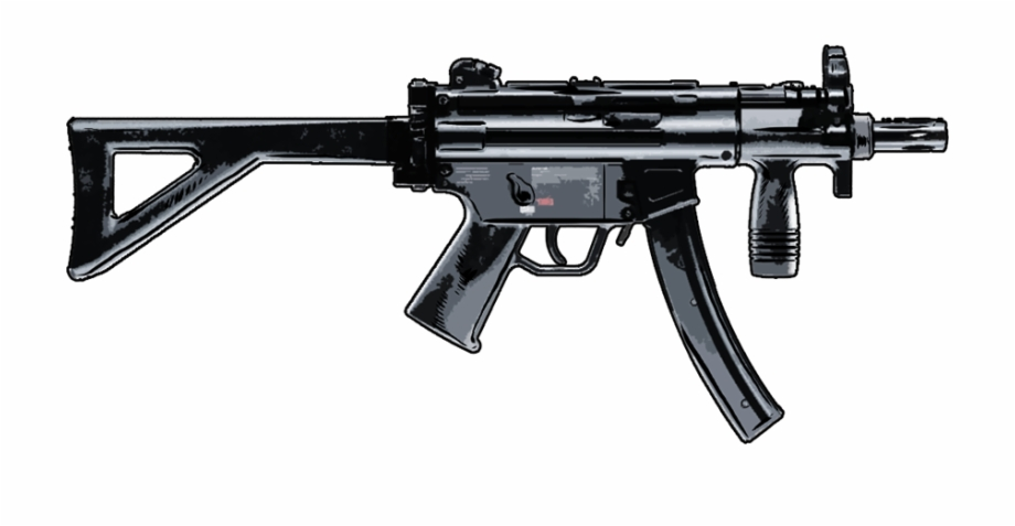 Heckler & Koch Mp5 Submachine Gun Free PNG Images & Clipart.