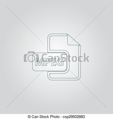 Vector of MPEG video file extension icon vector..