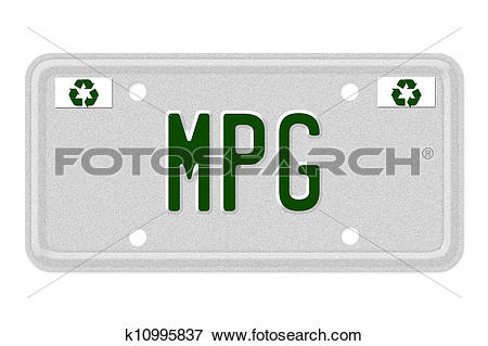 Stock Illustration of MPG Car License Plate k10995837.