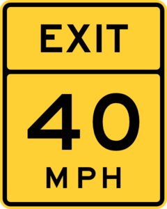 Exit 40 Mph Road Sign Clip Art at Clker.com.