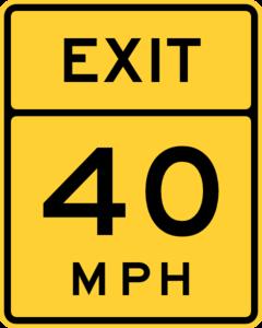Exit 40 Mph Road Sign Clip Art at Clker.com.