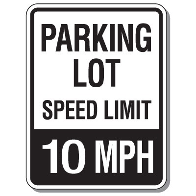 10 Mph Speed Limit Sign Clipart.