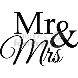 mr and mrs clipart. Royalty.