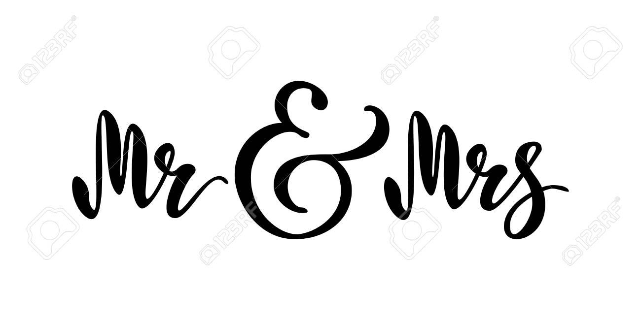 Mr and Mrs. Brush pen lettering..