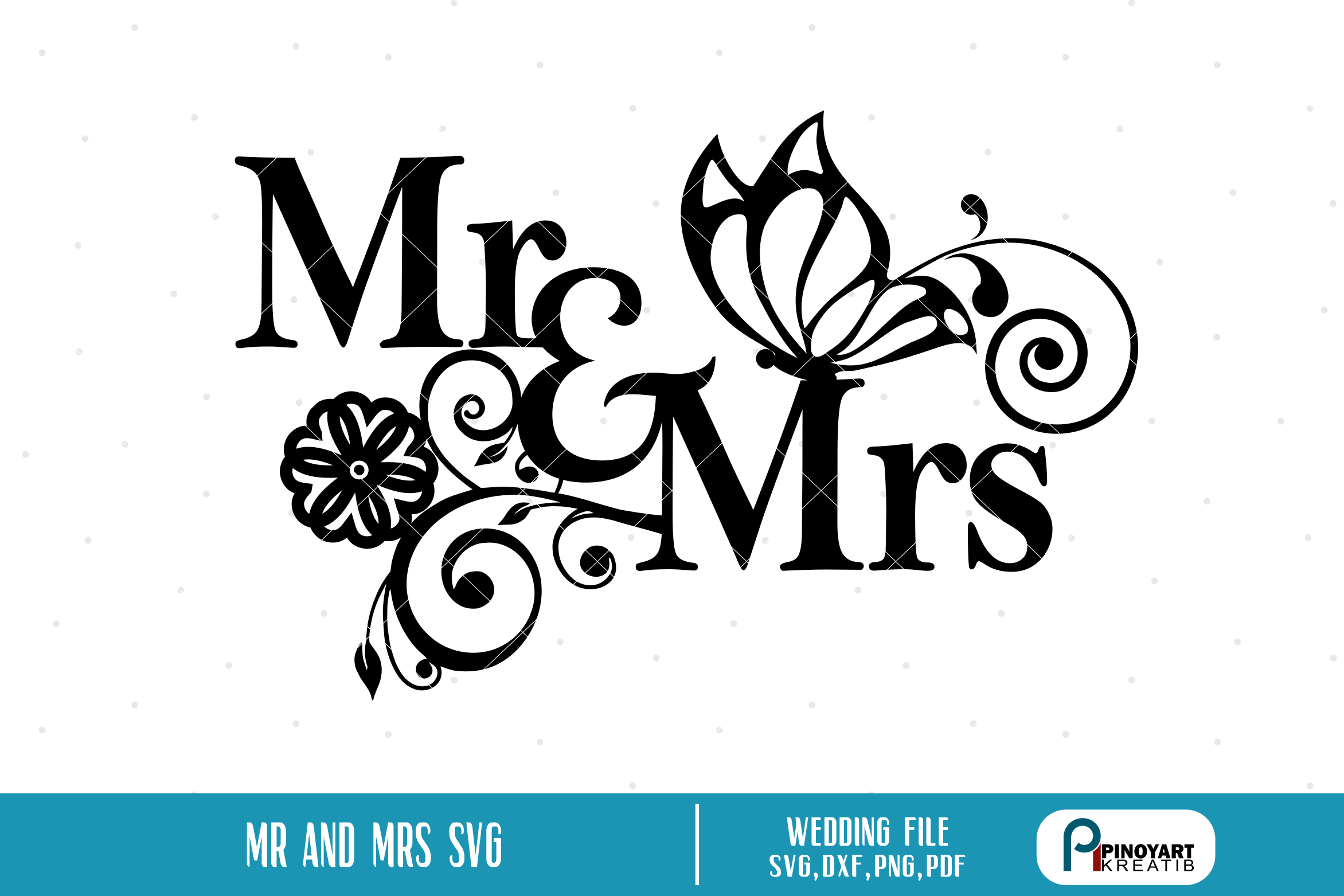 Mr and Mrs SVG, Mr and Mrs Svg File, Wedding Svg File,Vector.