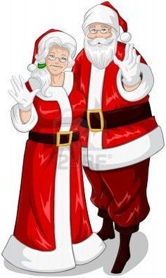 Mr and mrs claus clipart 1 » Clipart Portal.