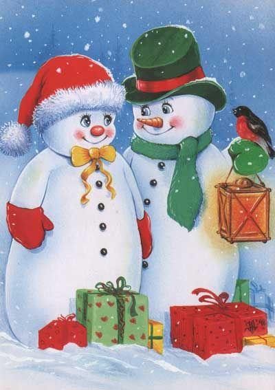 Mr. & Mrs. Snowman.