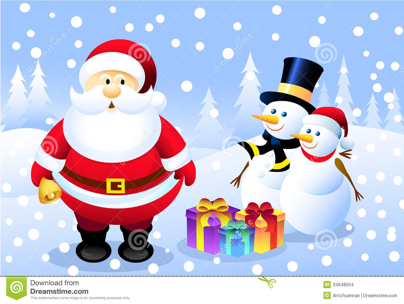 Mr And Mrs Snowman Clipart.