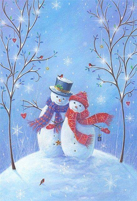 Mr and Mrs Snowman.