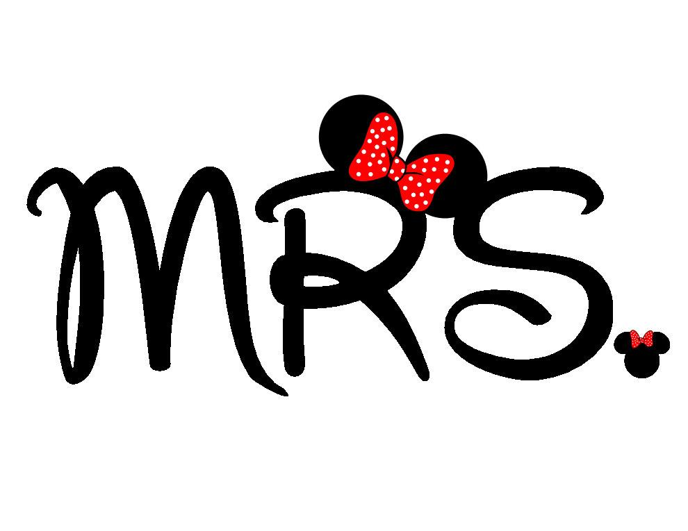 Mr mrs disney logo clipart.