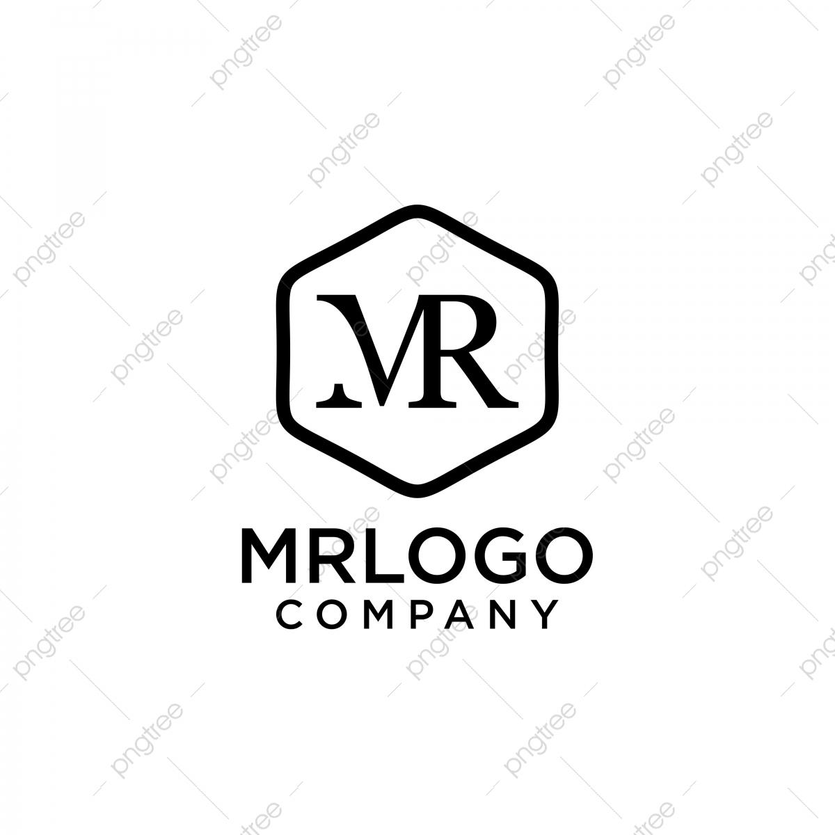 Initial Monogram Mr Logo Design, Logo, Monogram, Flat PNG.