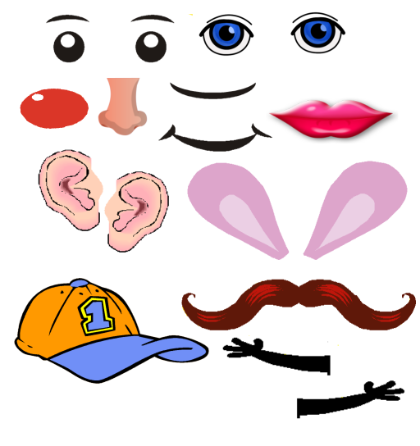 Mr Potato Head Body Parts Clip Art.