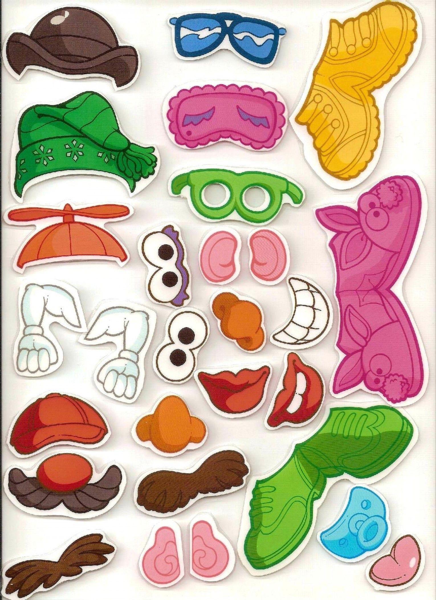 Mr Potato Head Body Parts: Potato Head Printables Body.