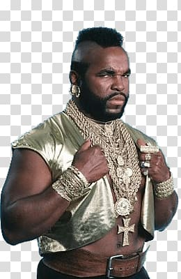 Mr. T, Mr T Side View transparent background PNG clipart.