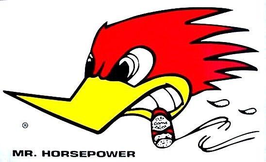 Mr Horsepower Clay Smith Car Truck BIG Decal Sticker Woodpecker.