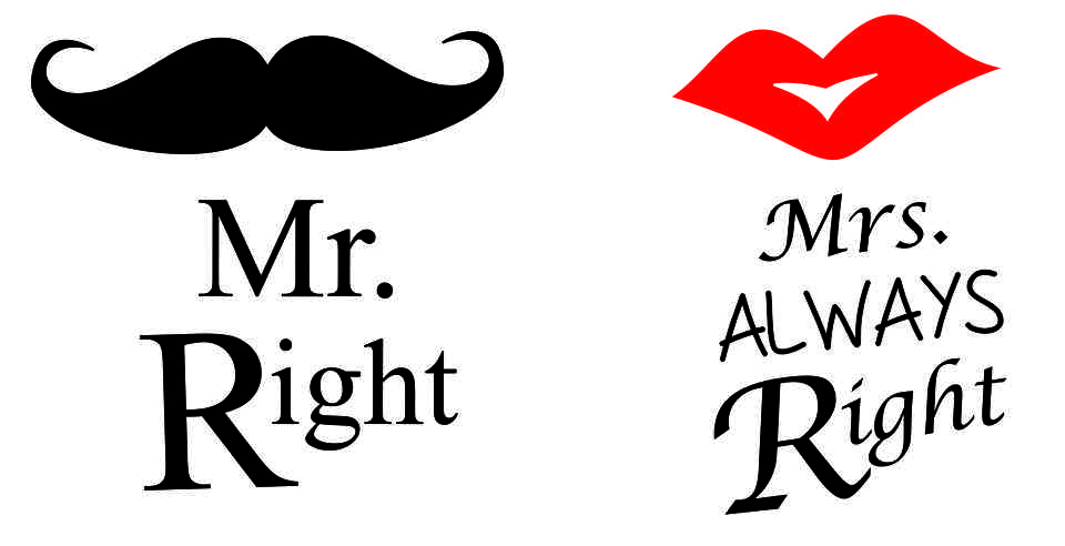 Mr and mrs clipart.