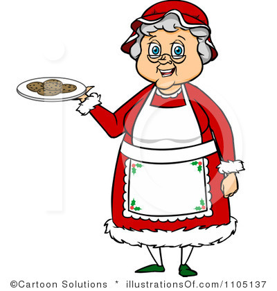 Mrs claus clipart.