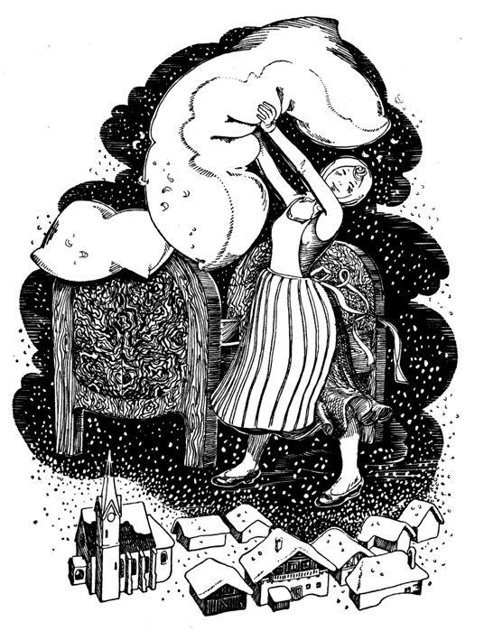 1000+ images about Mother Holle or Frau Hulda Illustrations on.