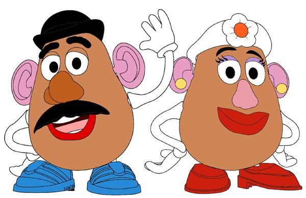 Mr. and Mrs. Potato Head.