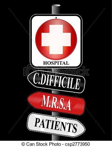 MRSA Infection Clip Art.