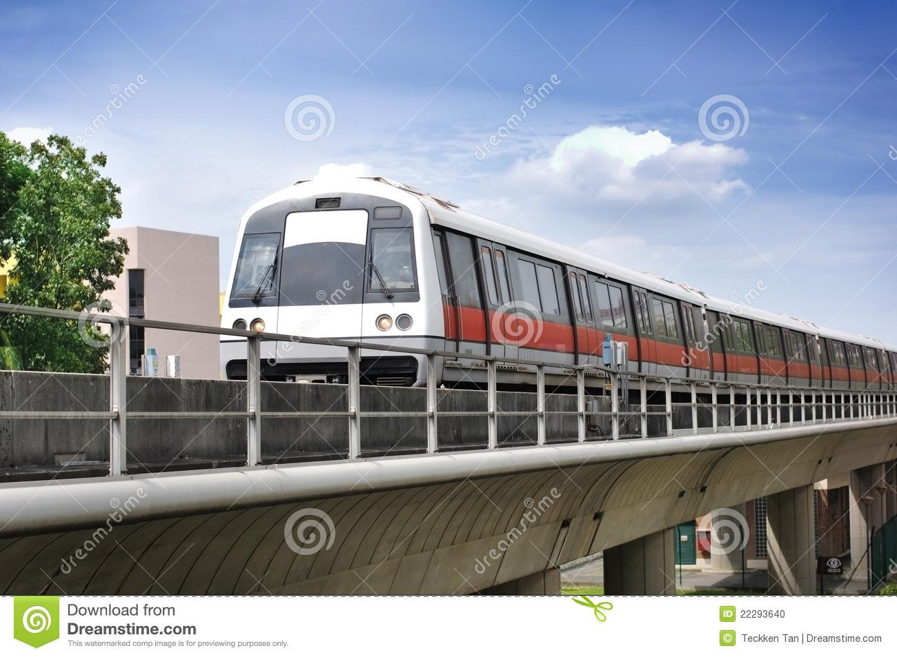 Singapore MRT Train Stock Photo.