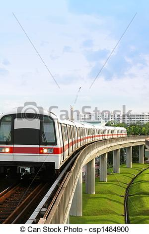 Stock Photography of Singapore MRT.