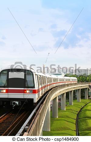 Stock Photography of Singapore MRT.