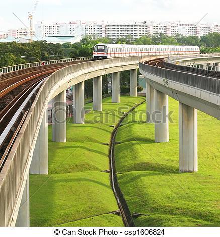 Stock Photo of Singapore MRT.