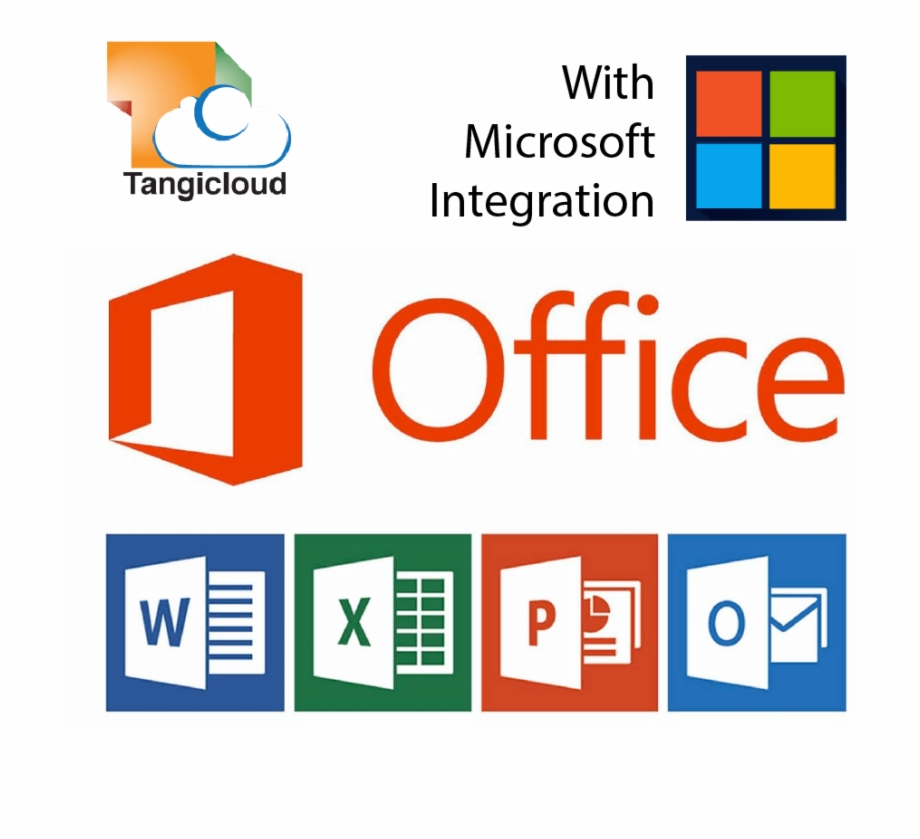 Logos Of Microsoft Office Products.
