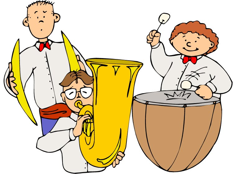 School band concert clipart.