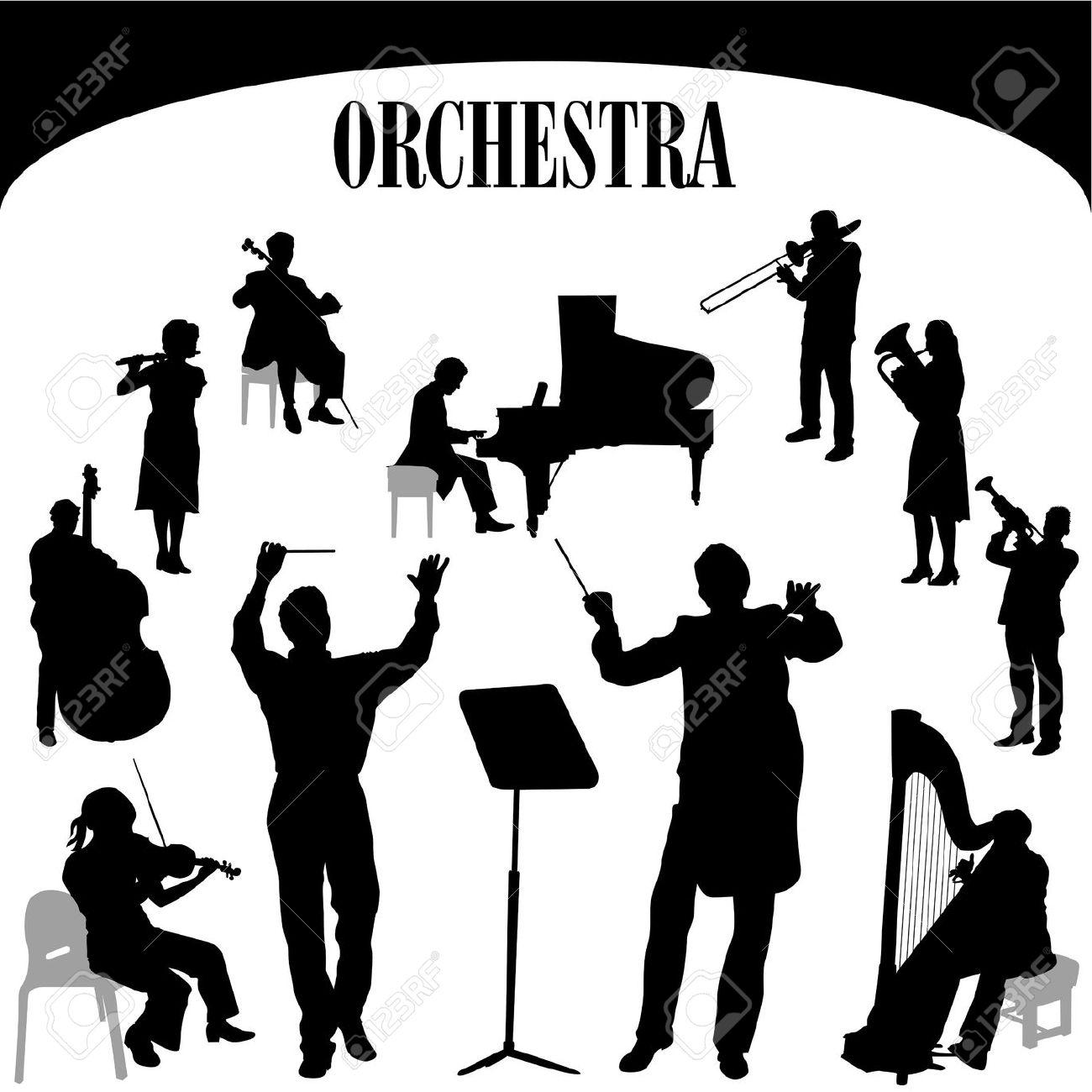 Symphony Orchestra Clip Art.