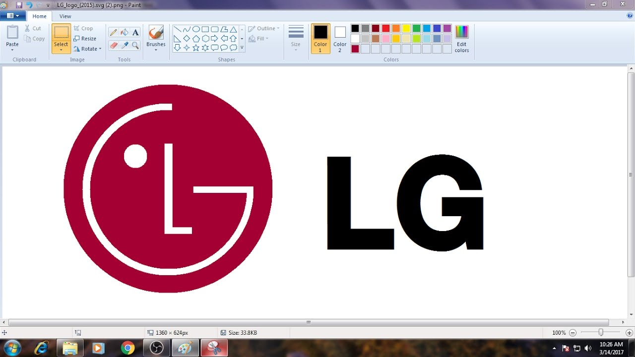 [Requested Video]How to Draw LG Logo in MS Paint from Scratch!.
