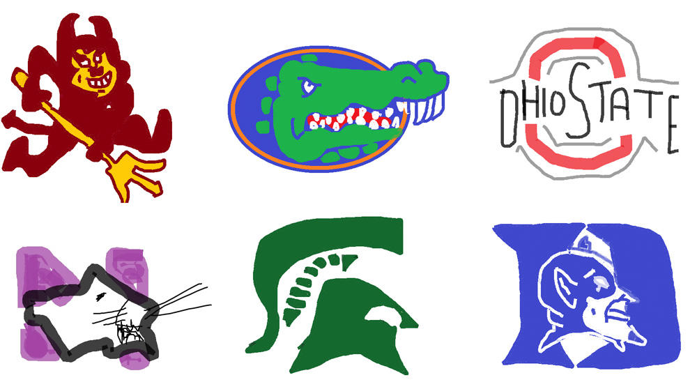 Brand New: Division I Logos in MS Paint.