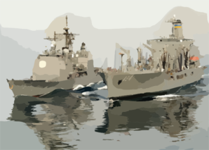 The Military Sealift Command (msc) Underway Replenishment Oiler.