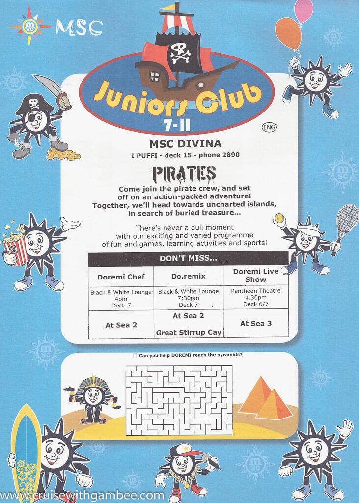 MSC Divina Cruises Kids Club.