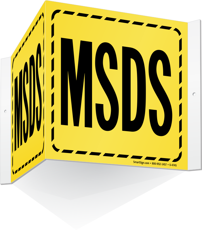 MSDS Signs.