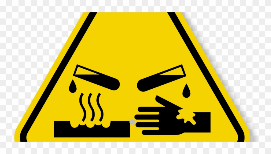Corrosive Chemical Hazard Symbol Clipart (#1974694).