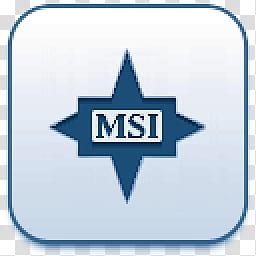 Albook extended blue , MSI logo transparent background PNG.