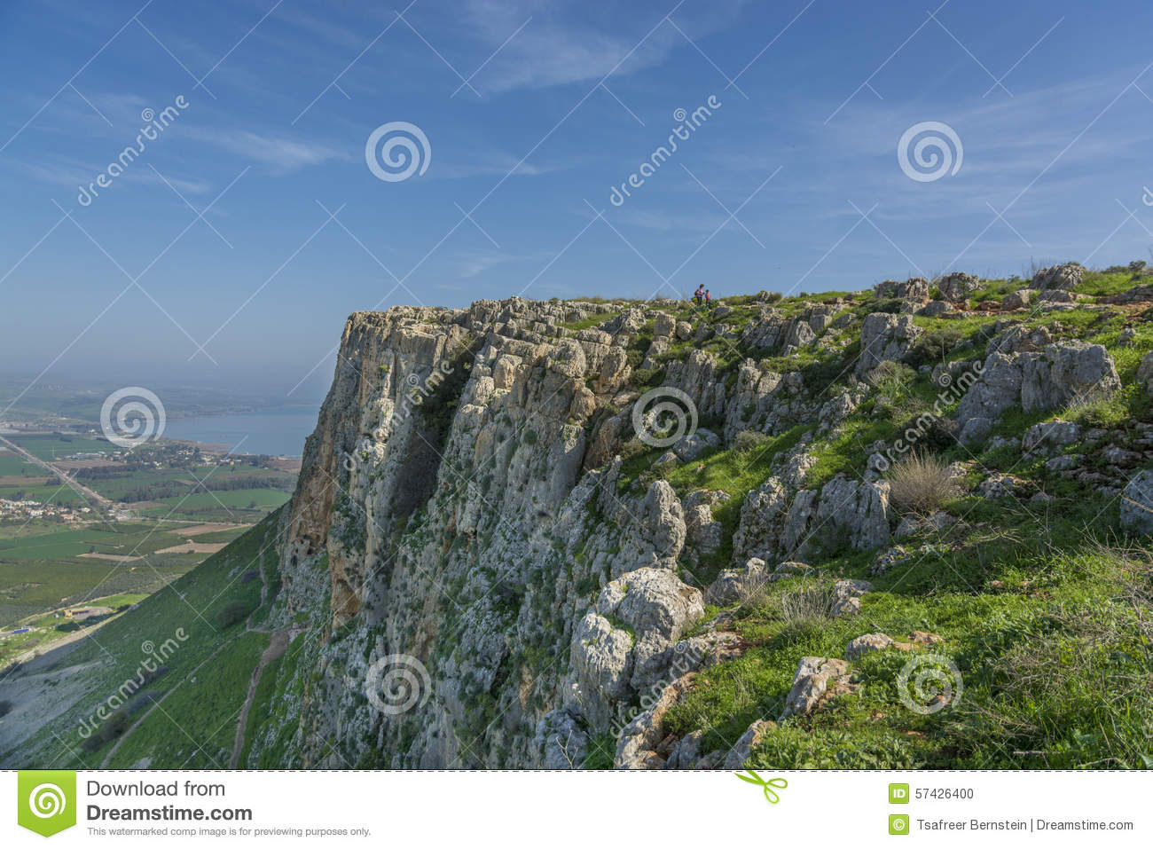 Mount Arbel Cliff Stock Photo.