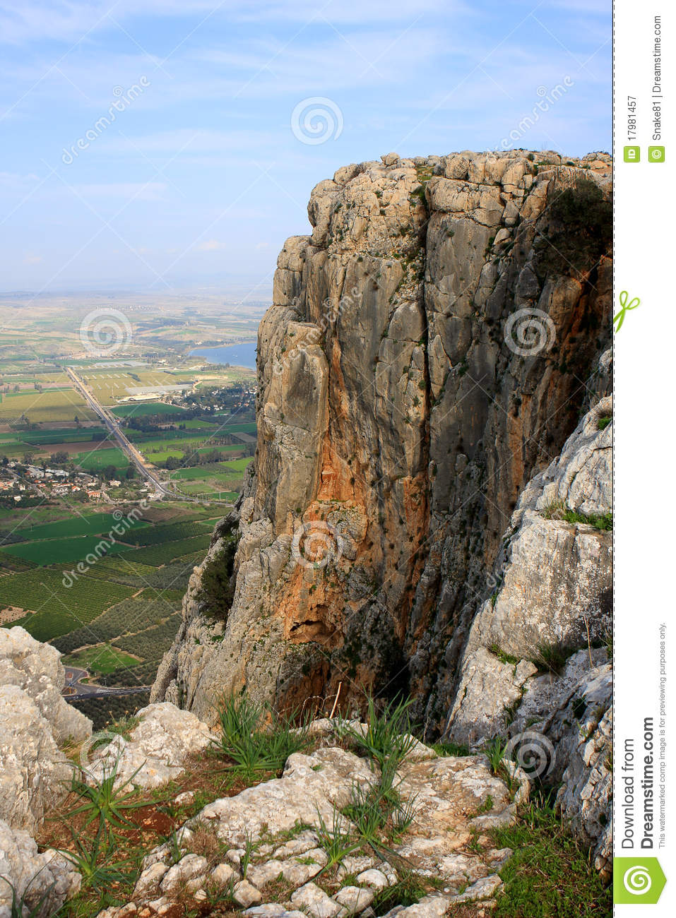 Arbel Mountain, Israel Royalty Free Stock Photography.