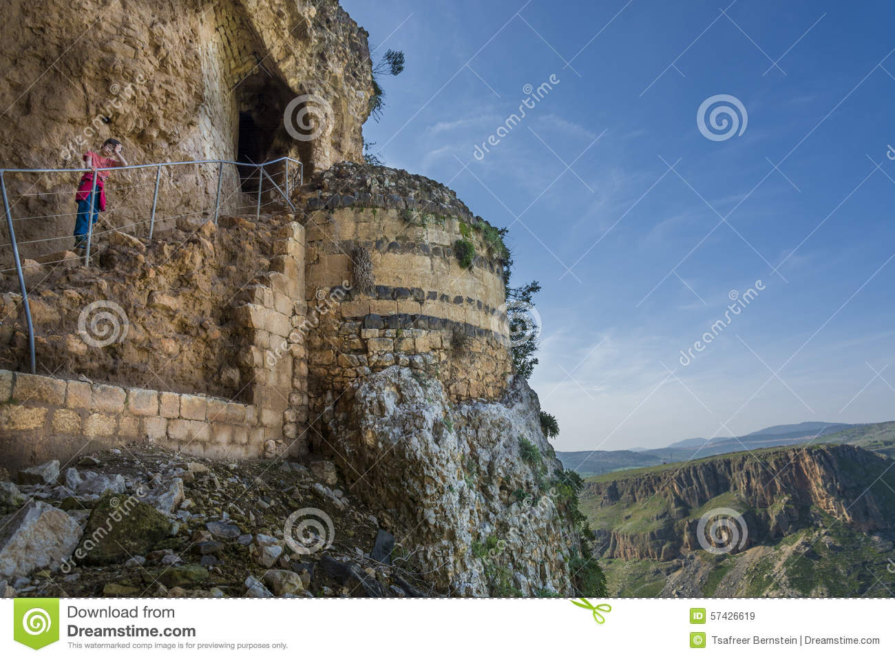 Cave Fortress, Mount Arbel Royalty Free Stock Image.