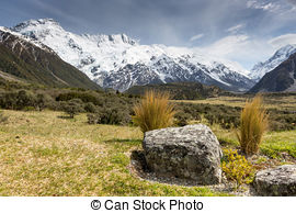 Pictures of Mount Cook and Hooker River,New Zealand.
