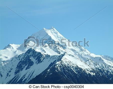 Stock Photo of Mt Cook in New Zealand csp0040304.