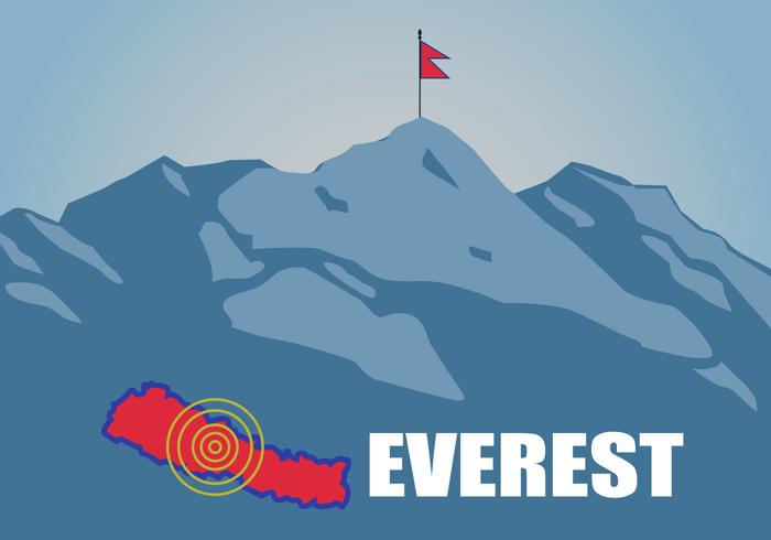 Free Flat Everest Vector.