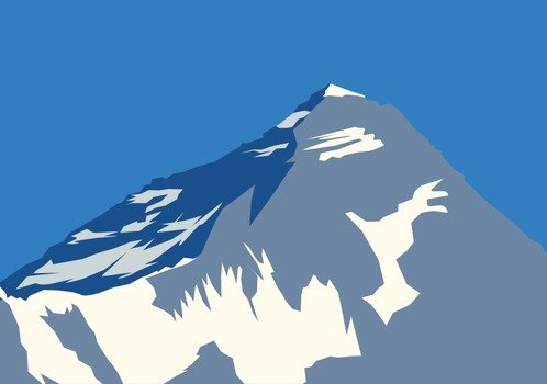 Mount Everest Clip Art free image.